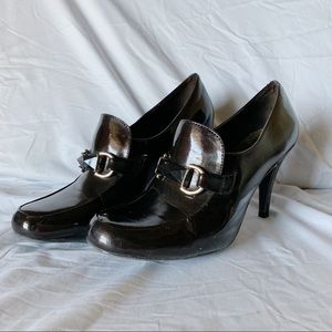 Naturalizer Shoes - Naturalizer Dark Brown Leather Heels Size 9.5